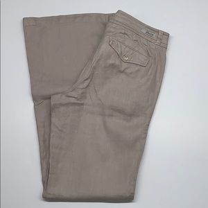 LEVEL 99 LINEN BLEND WIDE LEG PANTS